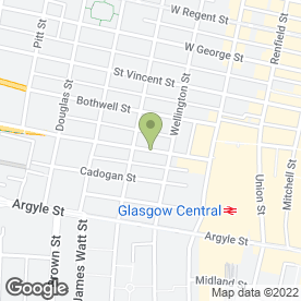Map of CR Enforcement Centre in Glasgow, lanarkshire