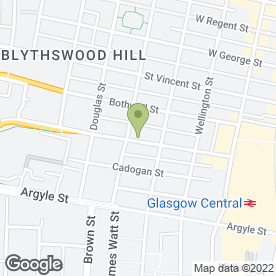 Map of The Admiral in Glasgow, lanarkshire