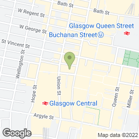 Map of Riddell Thoms & Co LLP in Glasgow, lanarkshire