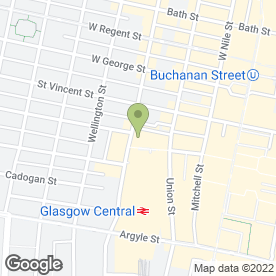 Map of Glasgow Kilt Co in Glasgow, lanarkshire