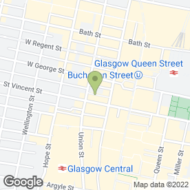 Map of Spa in the City in Glasgow, lanarkshire