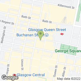 Map of Chaophraya in GLASGOW, lanarkshire