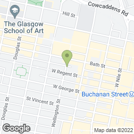 Map of Glasgow Web Design in Glasgow, lanarkshire