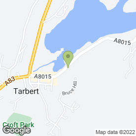Map of The Art Studio in Tarbert, argyll