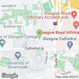 Map of The Lee in Glasgow, lanarkshire