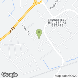Map of City Vending in Brucefield Industrial Estate, Livingston, west lothian