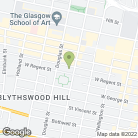 Map of Blythswood Square Hotel in Glasgow, lanarkshire