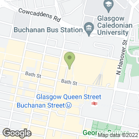 Map of Orange in Glasgow, lanarkshire