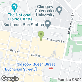 Map of The Green Room in Glasgow, lanarkshire