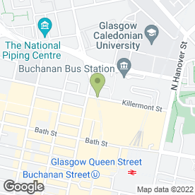 Map of Clansman Kiosk in GLASGOW, lanarkshire