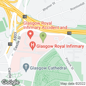 Map of Townhead Health Centre in Glasgow, lanarkshire