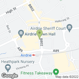 Map of Airdrie Flowers in Airdrie, lanarkshire