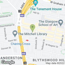 Map of Advanced Hair Studios Ltd in Glasgow, lanarkshire