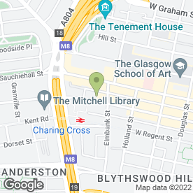 Map of Bonnar Accident Law Solicitors in Glasgow, lanarkshire