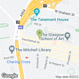 Map of Serviced Apartments In Glasgow in Glasgow, lanarkshire