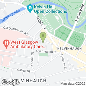 Map of Cushion & Cake in Glasgow, lanarkshire