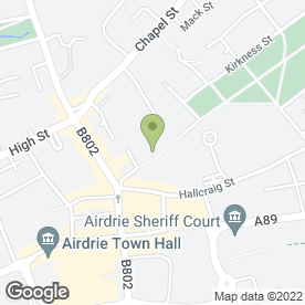 Map of Dent Steel Services (Yorkshire) Ltd in Airdrie, lanarkshire