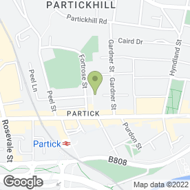 Map of Partick Bowling Club in Partick, Glasgow, lanarkshire