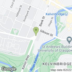 Map of Glasgow University Students Union in Glasgow, lanarkshire