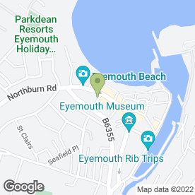 Map of Beauty Spot in Eyemouth, berwickshire