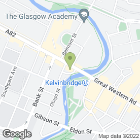 Map of La Parmigiana in Glasgow, lanarkshire