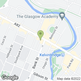 Map of The Kelvin Partnership in Glasgow, lanarkshire