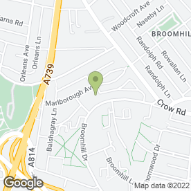 Map of Broomhill Laundry & Dry Cleaners in Broomhill, Glasgow, lanarkshire
