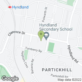 Map of Hyndland Secondary School in Glasgow, lanarkshire