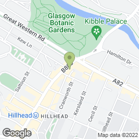 Map of Papyrus in Glasgow, lanarkshire