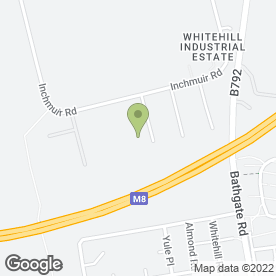 Map of Euro Environmental Contracts Ltd in Whitehill Industrial Estate, Bathgate, west lothian