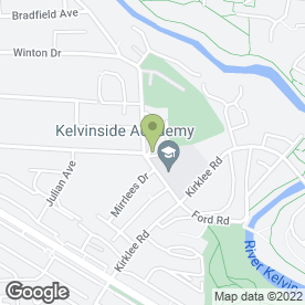 Map of Kelvinside Academy in Glasgow, lanarkshire