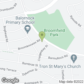Map of Balornock Primary School in Glasgow, lanarkshire