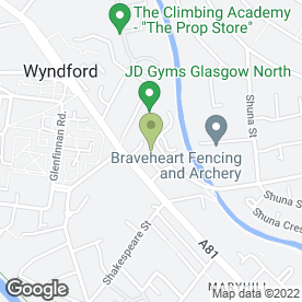 Map of The Glasgow Tuning & M O T Centre in Glasgow, lanarkshire
