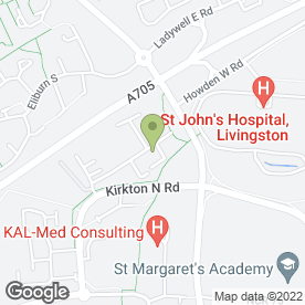 Map of Heatherfield Homecare Ltd in Livingston, west lothian