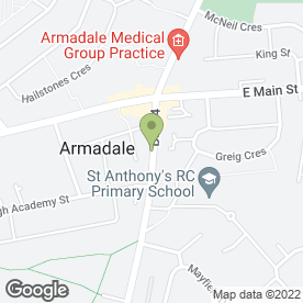 Map of Jamies Barber Shop in Armadale, Bathgate, west lothian