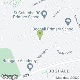 Map of Boghall P.O in Bathgate, west lothian