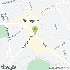 Map of Valentes Fish & Chip Shop in Bathgate, west lothian