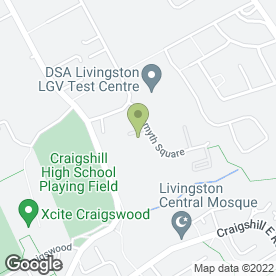 Map of Inverdean Ltd in Livingston, west lothian