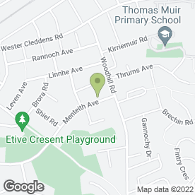 Map of Sinclair Upholsterers in Bishopbriggs, Glasgow, lanarkshire