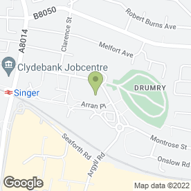 Map of Crawford Plastering in Clydebank, dunbartonshire