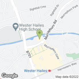 Map of Shell Wester Hailes in Edinburgh, midlothian