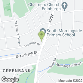 Map of South Morningside After School Care Club in Edinburgh, midlothian