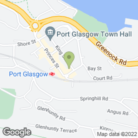 Map of Bank of Scotland in Port Glasgow, renfrewshire