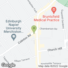 Map of Senior Service in Edinburgh, midlothian