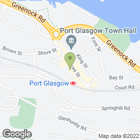 Map of Port Glasgow Railway Station in Port Glasgow, renfrewshire