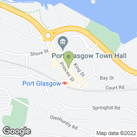 Map of Greggs in Port Glasgow, renfrewshire