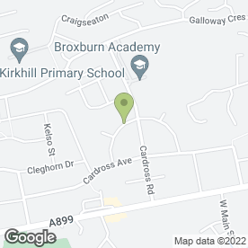 Map of M Hife Mini Diggers in Broxburn, west lothian