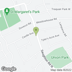 Map of Angela's Driving School in Edinburgh, midlothian