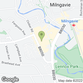 Map of MACGREGOR in Milngavie, Glasgow, lanarkshire