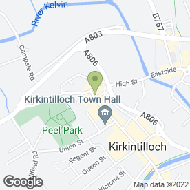 Map of BARU in Kirkintilloch, Glasgow, lanarkshire
